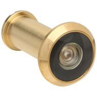 National Hardware S803-969 S803-968 Stanley Door Viewer 170 Degree Wide Angle Polished Solid Brass
