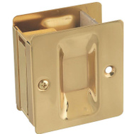 National Hardware S404-005 / N216-069 Stanley Passage Notched Pocket Door Pull Polished Solid Brass