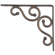 National Hardware S250-592 N236-214 Stanley Traditional Shelf Bracket 7 By 8 Inch Antique Bronze