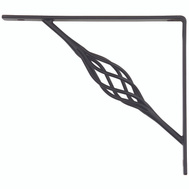 National Hardware S250-593 N236-222 Stanley Rustic Shelf Bracket 7 By 8 Inch Black
