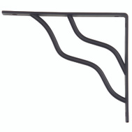 National Hardware N236-224 S250-596 Stanley Modern Shelf Bracket 7 By 8 Inch Black