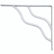 National Hardware N236-230 S250-598 Stanley Modern Shelf Bracket 7 Inch By 8 Inch White