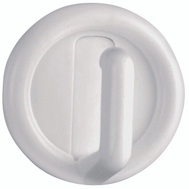 National Hardware S752-014 S819-930 N308-189 Stanley Single Prong 1-1/2 Inch White Plastic Self Adhesive Utility Hooks 4 Pack