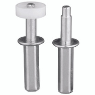 National Hardware S402-126 N344-911 Stanley Bi-Fold Door Top Pivot And Roller Guides 7/8 Inch And Post Styles For 7/8 To 1-3/8 Inch