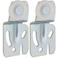 National Hardware S403-088 N344-887 Stanley By-Passing Sliding Door Hangers 1/2 Inch Offset Zinc Plated Steel 2 Pack