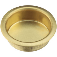 National Hardware S403-506 N237-438 Stanley Recessed Finger Grip Cup Pulls 3/4 Inch Bright Brass 4 Pack