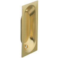 National Hardware S403-516 Stanley Oblong Flush Door Pulls 2-3/4 By 1-5/16 Inch Solid Brass Bright Brass 2 Pack