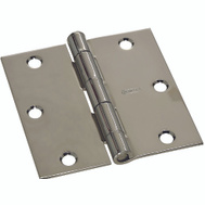 National Hardware S750-240 N830-185(single) Stanley Door Hinges 3-1/2 Inch Square Corner Polished Chrome 2 Pack