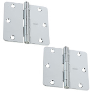 National Hardware S750-360 Stanley Door Hinges 3-1/2 Inch 1/4 Radius Bright Chrome 2 Pack