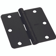 National Hardware S750-362 Stanley Door Hinges 3-1/2 Inch 1/4 Radius Oil Rubbed Bronze 2 Pack