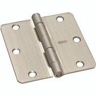 National Hardware S750-364 Stanley Door Hinges 3-1/2 Inch 1/4 Radius Satin Nickel 2 Pack