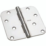 National Hardware S083-506 S750-390 Stanley Door Hinges 4 Inch 5/8 Radius Polished Chrome 2 Pack