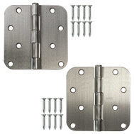 National Hardware S083-579 Stanley Door Hinges 4 Inch 5/8 Radius Satin Chrome 2 Pack