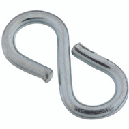 National Hardware S759-170 N121-434 Stanley Closed S Hooks Light #813 7/8 Inch Zinc Plated Steel 8 Pack