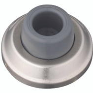 National Hardware S750-164 Stanley Concave Wall Door Stop 2-1/2 Inch Satin Nickel