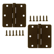 National Hardware S083-519 S821-322 Stanley Door Hinges 3-1/2 Inch 1/4 Radius Oil Rubbed Bronze 2 Pack