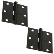 National Hardware S750-257 Stanley 3 Inch Square Corner Door Hinges Oil Rubbed Bronze 2 Pack