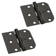 National Hardware S750-258 Stanley Door Hinges 3 By 3-3/16 Inch 5/8 Radius X Square Oil Rubbed Bronze 2 Pack