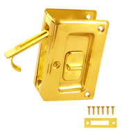 National Hardware S404-040 Stanley Long Deluxe Pocket Door Privacy Latch Bright Brass