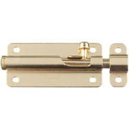 National Hardware S756-400 Stanley Spring Lock Barrel Bolt 3 Inch Bright Brass