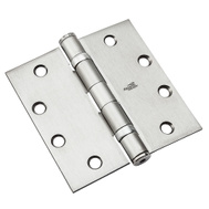 National Hardware S060-003 N236-010 N236-106 Stanley Ball Bearing Commercial Door Hinge 4-1/2 Inch Satin Chrome