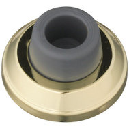 National Hardware S570-006 Stanley 2-1/2 Inch Concave Heavy Duty Commercial Wall Door Stop Bright Brass On Steel