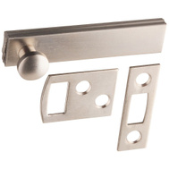 National Hardware S800-005 Stanley Flush Surface Bolt 2-1/2 Inch Satin Nickel On Solid Brass