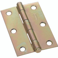 National Hardware S690-190 N142-067 Stanley Removable Pin Narrow Hinges 3 By 2 Inch Brass Finish Steel 2 Pack