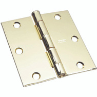 National Hardware S690-287 Stanley 3-1/2 Inch Square Corner Door Hinge Bright Brass