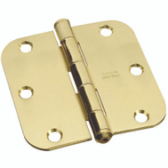 National Hardware S800-130 N197-756 Stanley 3-1/2 Inch Solid Brass Door Hinge With 5/8 Inch Radius