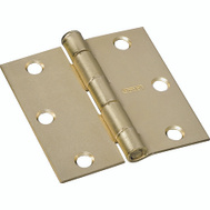 National Hardware S690-260 N236-943 Stanley Door Hinge 3 Inch Square Corner Satin Brass