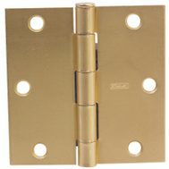 National Hardware S690-287 Stanley 3-1/2 Inch Square Corner Door Hinge Satin Brass