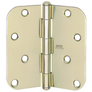 National Hardware S083-400 Stanley 4 Inch 1/4 Radius Door Hinges Satin Brass 2 Pack