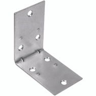 National Hardware S755-690 N285-569 Stanley Double Wide Corner Braces 2-1/2 By 1-1/2 Inch Zinc Plated Steel 2 Pack