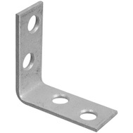 National Hardware S756-114 Stanley Corner Braces 1-1/2 By 5/8 By 0.08 Inch Galvanized Steel 2 Pack