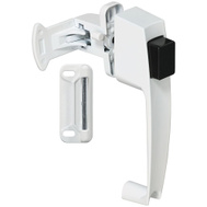 National Hardware S810-382 N213-074 Stanley Push Button Storm Door Latch White