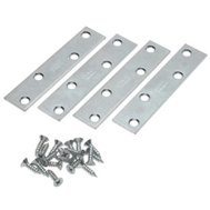 National Hardware S755-851 S839-159 N226-803 Stanley 4 By 5/8 Inch Zinc Plated Steel Mending Plates 4 Pack