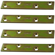 National Hardware S802-111 N191-056 Stanley 4 Inch Steel Mending Plate With Satin Brass Tone Finish 4 Pack