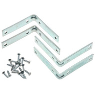 National Hardware N113-464 S756-501 N227-421 Stanley Corner Braces 3 By 3/4 By 0.11 Inch Zinc Plated Steel 4 Pack