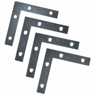 National Hardware S756-910 N114-025 Stanley Flat Corner Iron Braces 3-1/2 By 5/8 By 0.07 Inch Zinc Plated Steel 4 Pack