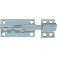 National Hardware S763-760 S819-038 S227-110 N162-370 Stanley Heavy Padlockable Barrel Bolt 4 Inch Zinc Plated Steel