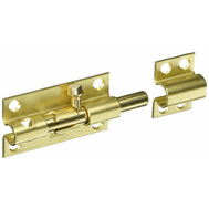 National Hardware S763-770 Stanley Heavy Padlockable Barrel Bolt 4 Inch Satin Brass On Steel