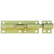 National Hardware S763-790 Stanley Heavy Padlockable Barrel Bolt 6 Inch Satin Brass On Steel