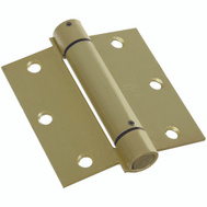 National Hardware S530-743 Stanley Commercial Spring Door Hinge 3-1/2 Inch Square Corner Satin Brass