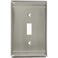 National Hardware S803-007 Stanley Franklin Single Switch Wall Plate Satin Nickel