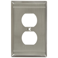 National Hardware S803-023 Stanley Franklin Single Duplex Wall Plate Satin Nickel
