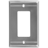 National Hardware S803-049 Stanley Franklin Single Rocker Or Gfi Wall Plate Satin Nickel