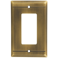 National Hardware S803-155 Stanley Franklin Single Rocker Or Gfi Wall Plate Antique Brass