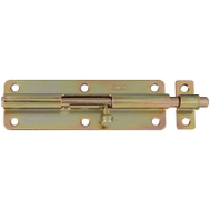 National Hardware S819-095 S758-350 Stanley 6 Inch Barrel Bolt Satin Brass Tone Finish