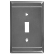 National Hardware S803-205 Stanley Franklin Single Switch Wall Plate Antique Pewter